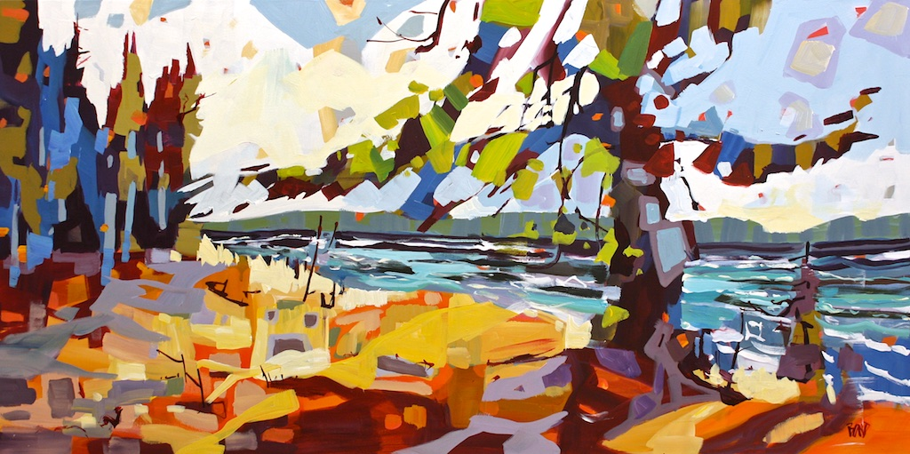 Wind Through the Spruce<Br>30 x 60<br>Acrylic on Canvas<Br>SOLD