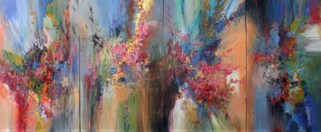 Franz Liszt, Die Ideale, Symphonic Poem, Quartet<Br>60 x 144<br>Acrylic on Canvas<Br> $ 14 000