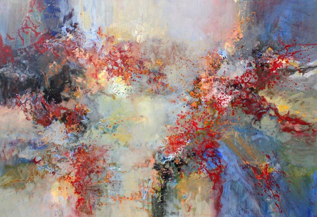 Ludwig van Beethoven, Quartet op. 59 No. 1<br>52 x 80<br>Acrylic on Canvas<Br>SOLD