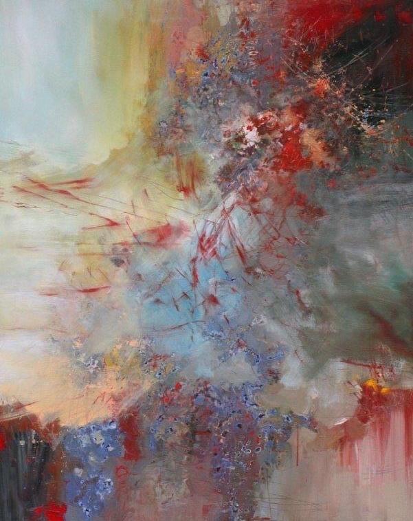 Anton Bruckner, Motet, Os Justi<br>58 x 47<br>Acrylic on Canvas<Br>SOLD