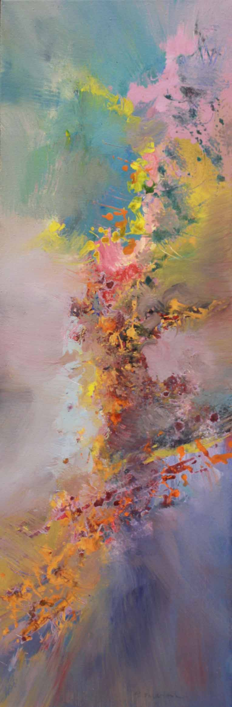 Johannes Brahms, Piano Quartet #1<br>42 x 16<br>Acrylic on Canvas<br>SOLD