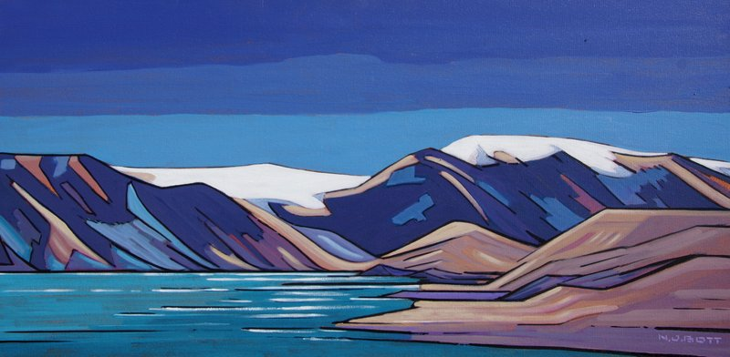 Nicholas Bott <br> Far Northern Essence <br> 18 x 36 <br> Acrylic on Canvas <br> $4250