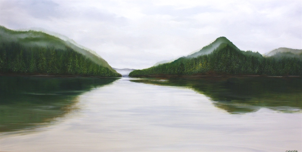 Corrine Wolcoski <br> Passage <br> 36 x 72 <br> Oil on Canvas <br> $5300