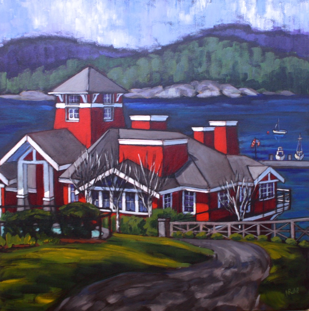 Poets Cove Winter Day  30x30 Acrylic on Canvas SOLD