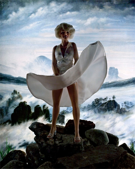 Diana Thorneycroft <br> Winter Above a Sea of Ice (Marilyn) 9/20 <br> 30 x 24 <br> Digital Photograph <br> $2800