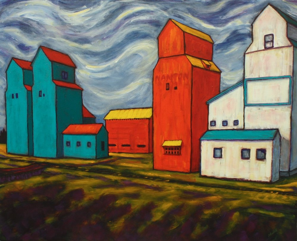 Nancy Ruhl <Br> Just Passing Through <Br> 24x30	<Br> Acrylic on Canvas	<Br> $ 1525