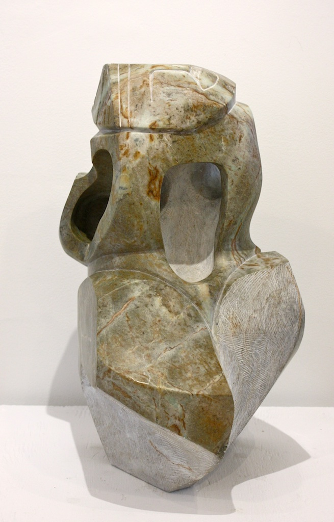 Of Two Minds<br>19 x 13 x 12<br>Soapstone<br>$ 4500<br>Reverse View