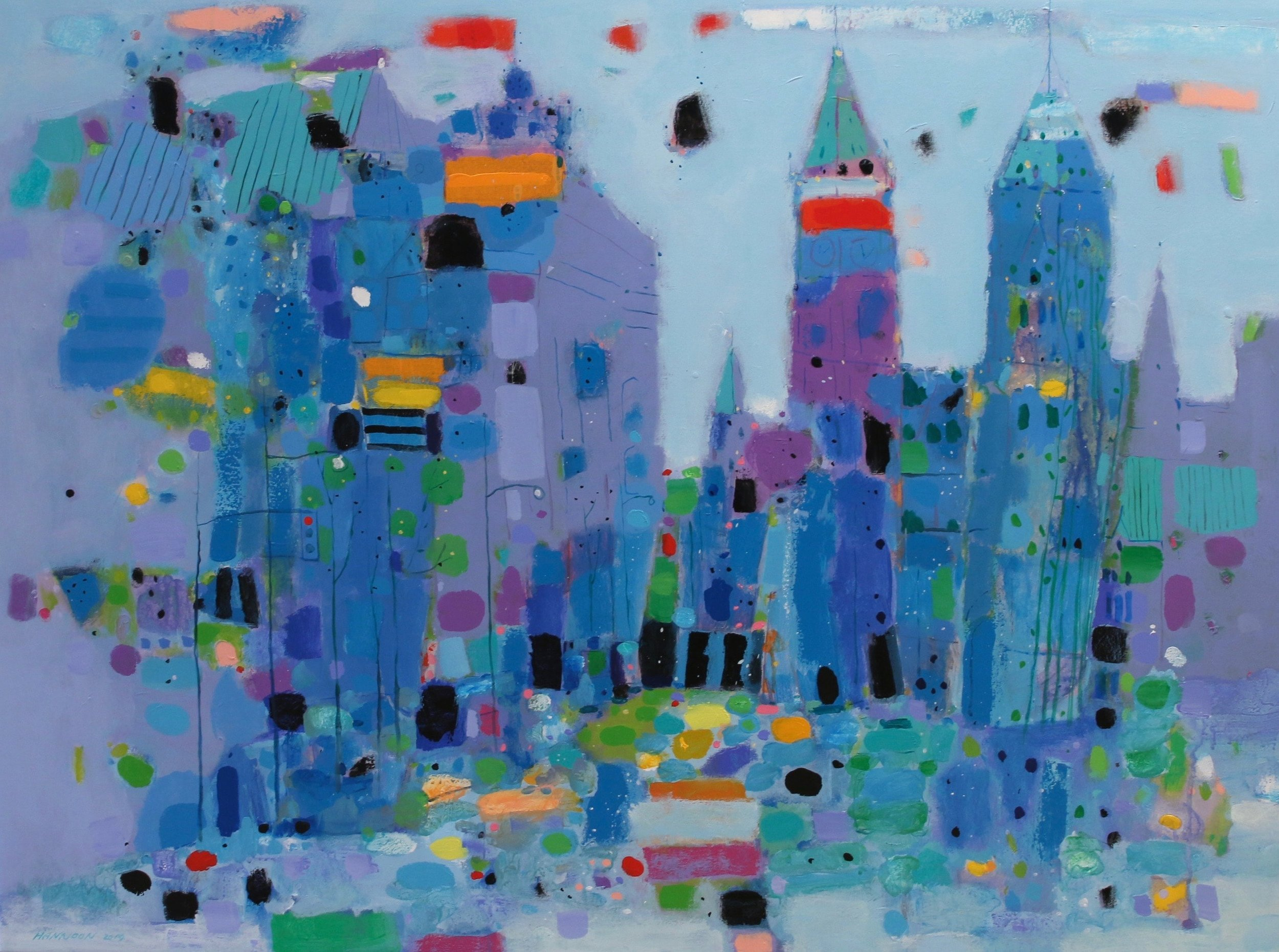 City Centre 36.25 x 48 Acrylic on Canvas $ 5250