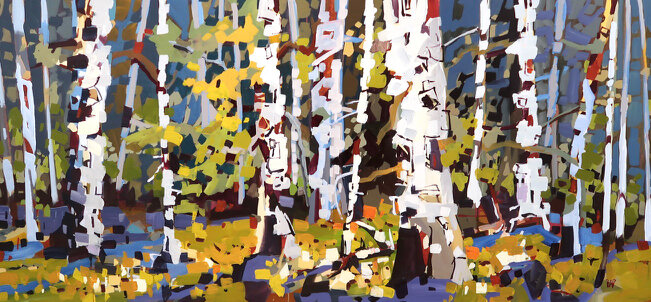 Forest Quilt - 36 x 78 - Acrylic on Canvas - $ 7600