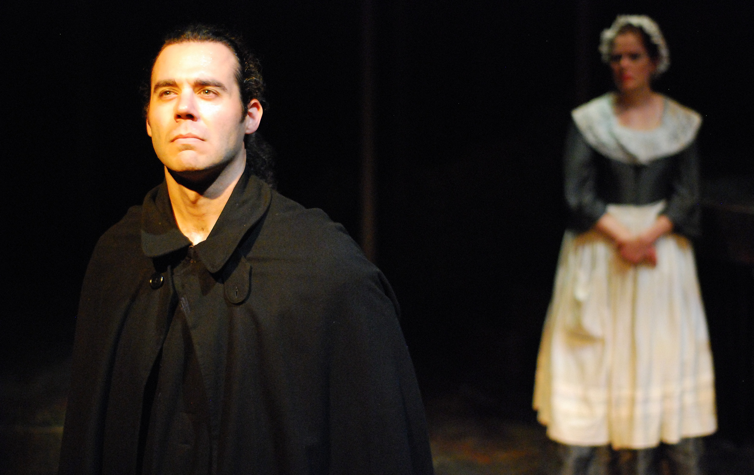 """Heathcliff"" in WUTHERING HEIGHTS with Cameron Feagin Photo by Paul Metreyeon"