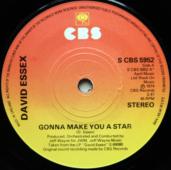 David Essex Gonna Make you a star record 1974.jpeg