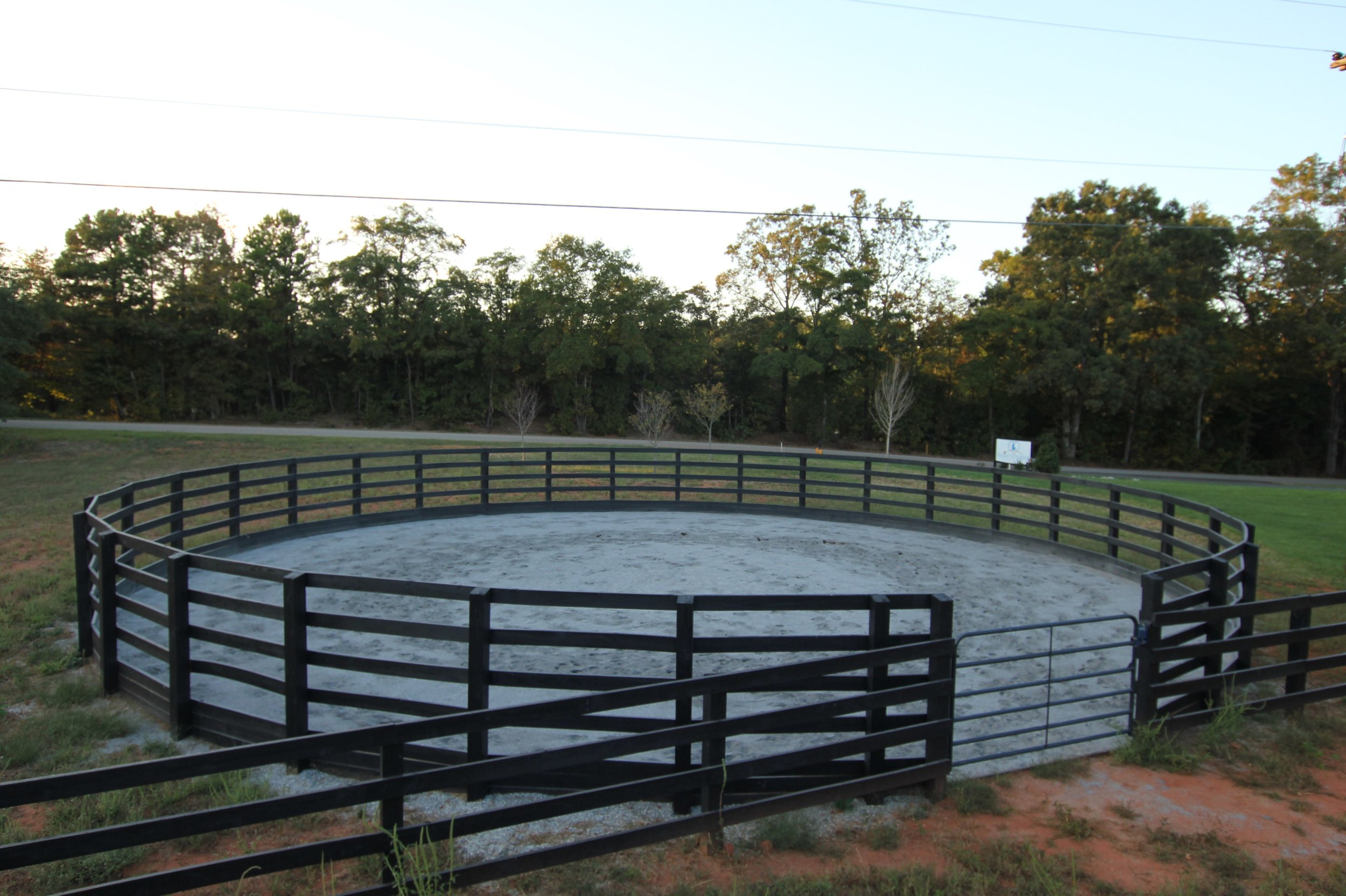 Round pen for lameness evaluation.