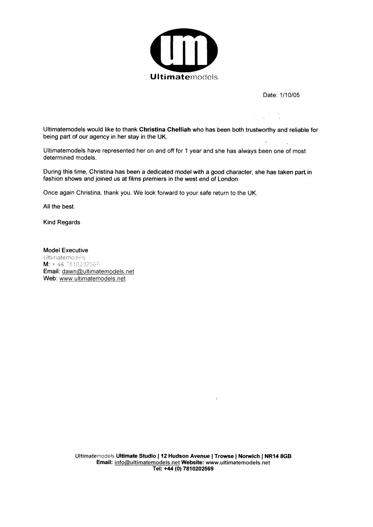 2005 - Modeling - Ultimate Models - Reference Letter.jpg