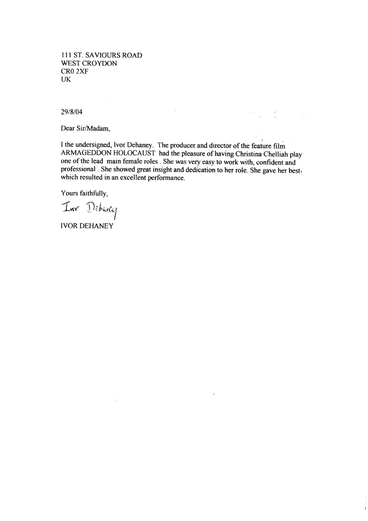 2004 - Acting - Armageddon Holocaust Feature Film - Reference Letter.jpg