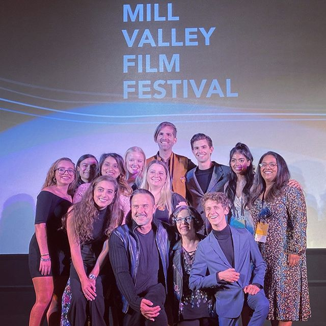 "Last week's premiere of ""The Miseducation of Bindu"" at The Mill Valley Film Festival. (Turns out, even at your own movie, they'll still kick you out if you try to sneak in a rotisserie chicken under your jacket.) Coming soon! 🚗✈️🚝🚍🚍"