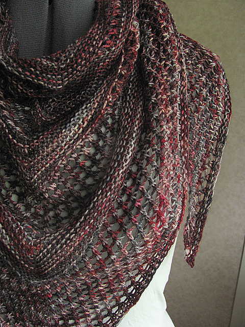 Our favorite pick is the Reyna Shawl by Noora Laivola. The colorway she knit hers from is like the subdued cousin of our own, and it would look stunning! Available as a free Ravelry download.