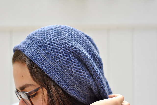 The Mithril Beanie by Hare & Anser is worked in the Honeycomb stitch and knits up a treat!