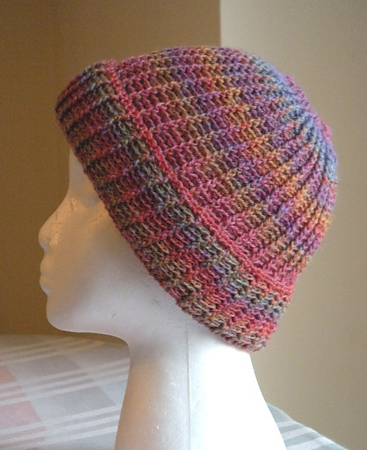 This crocheted Post Stitch Stocking Cap by Karen Klemp would lend itself so well to a bright kettle dyed yarn like ours! Available as a free Ravelry download.