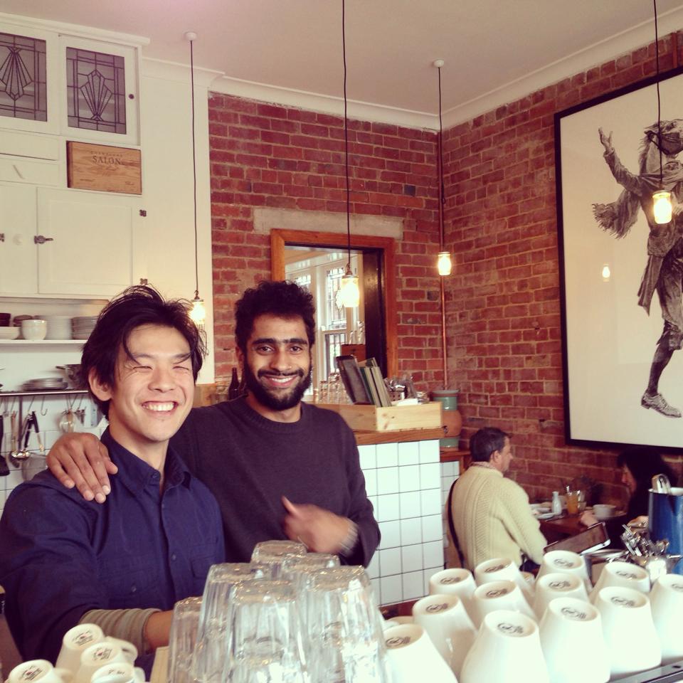 Warren and Rodrigo from So & So Cafe in Travancore