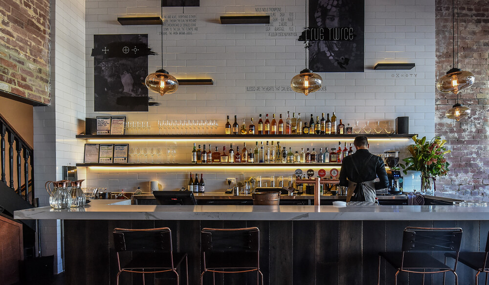 Front bar at Camus. IMAGE: supplied