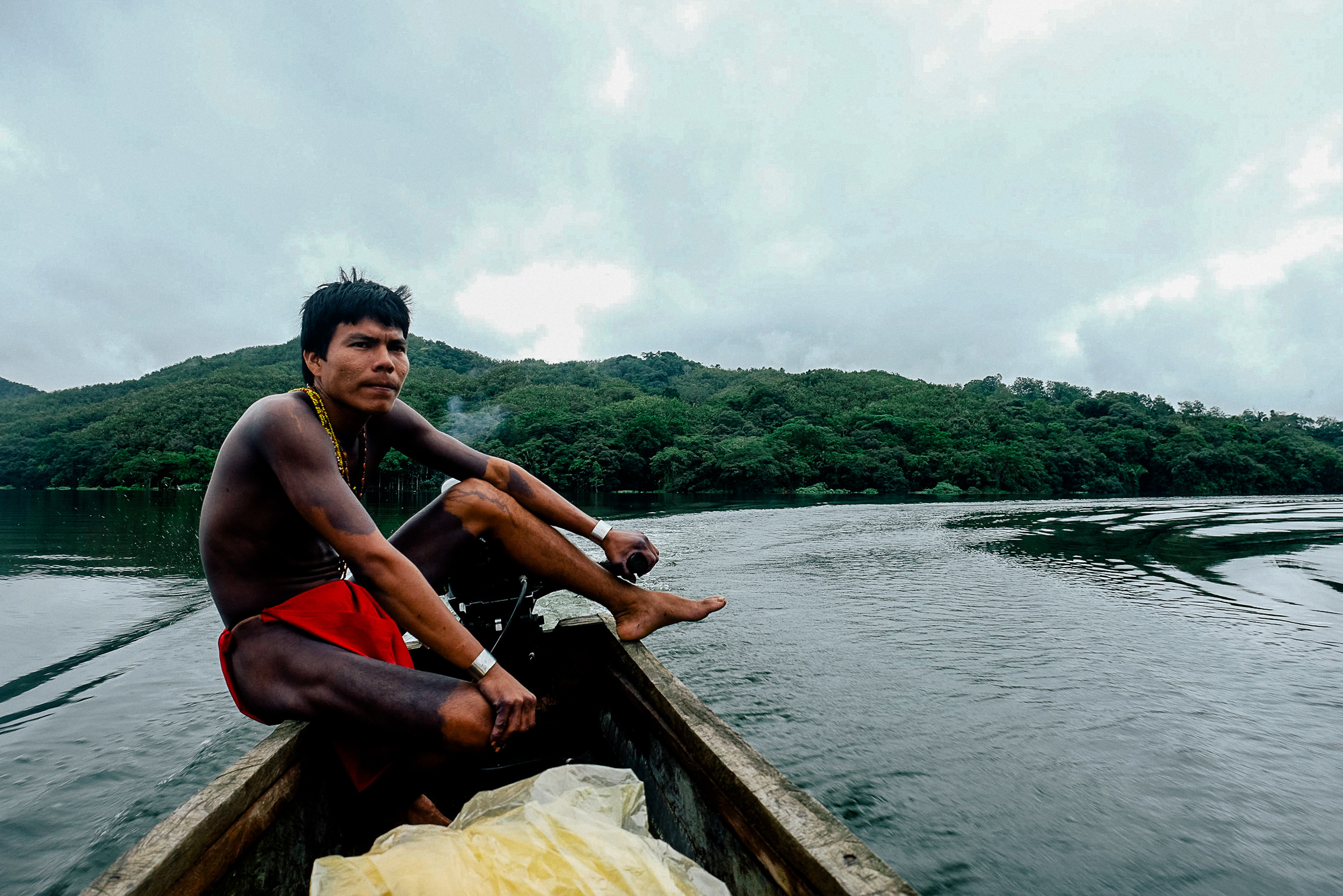 One of the young Embera men picked us up from the docks in a traditionally made canoe. The canoe is extremely important to the Embera, historically the art of crafting a canoe like this was a right of passage for Embera men and sometimes served as a prerequisite for marriage. We travelled through a myriad of rivers and canals to get to arrive at the village.