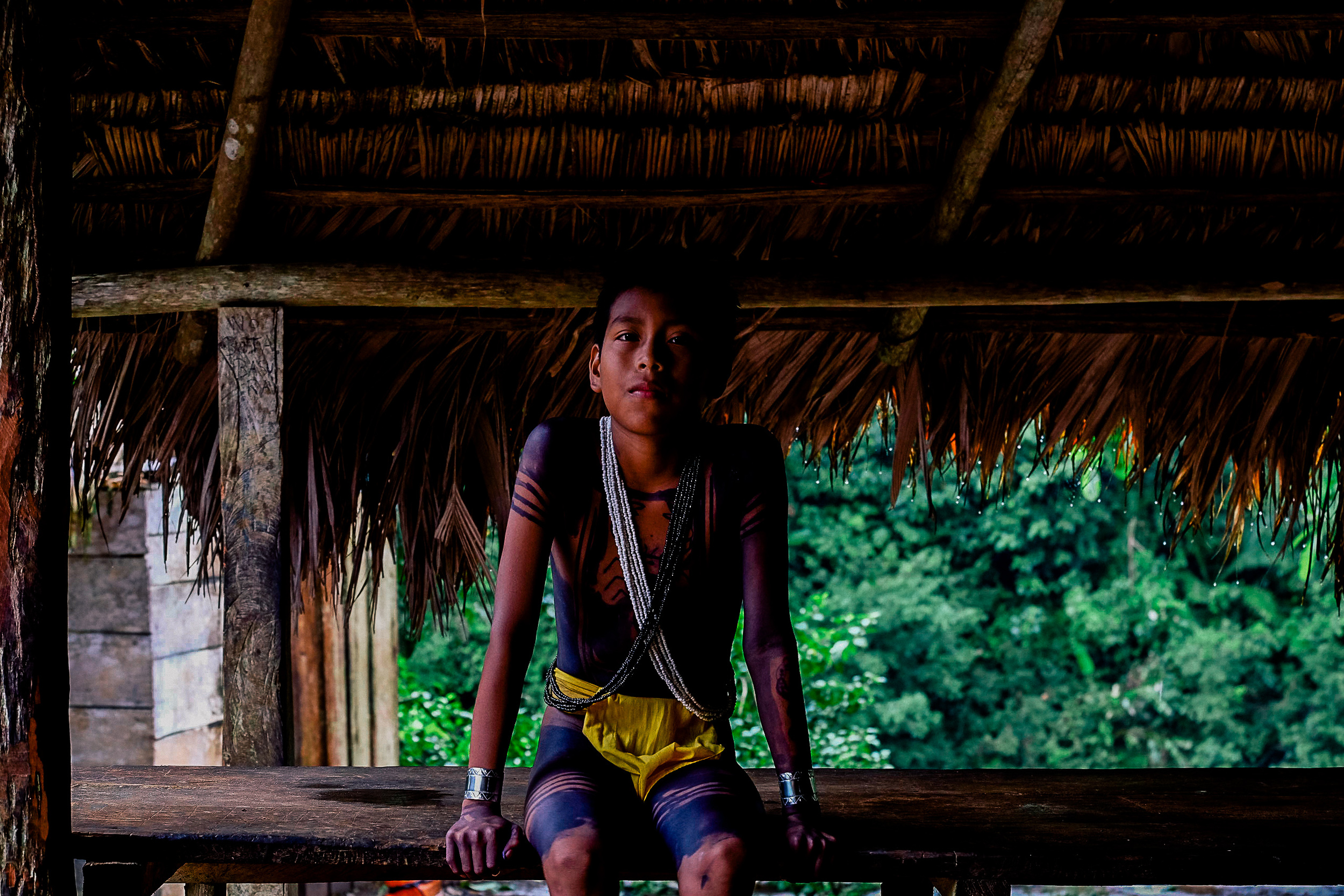 Jeriko - a curious young man of the Embera was very eager to share stories and show me around his village.