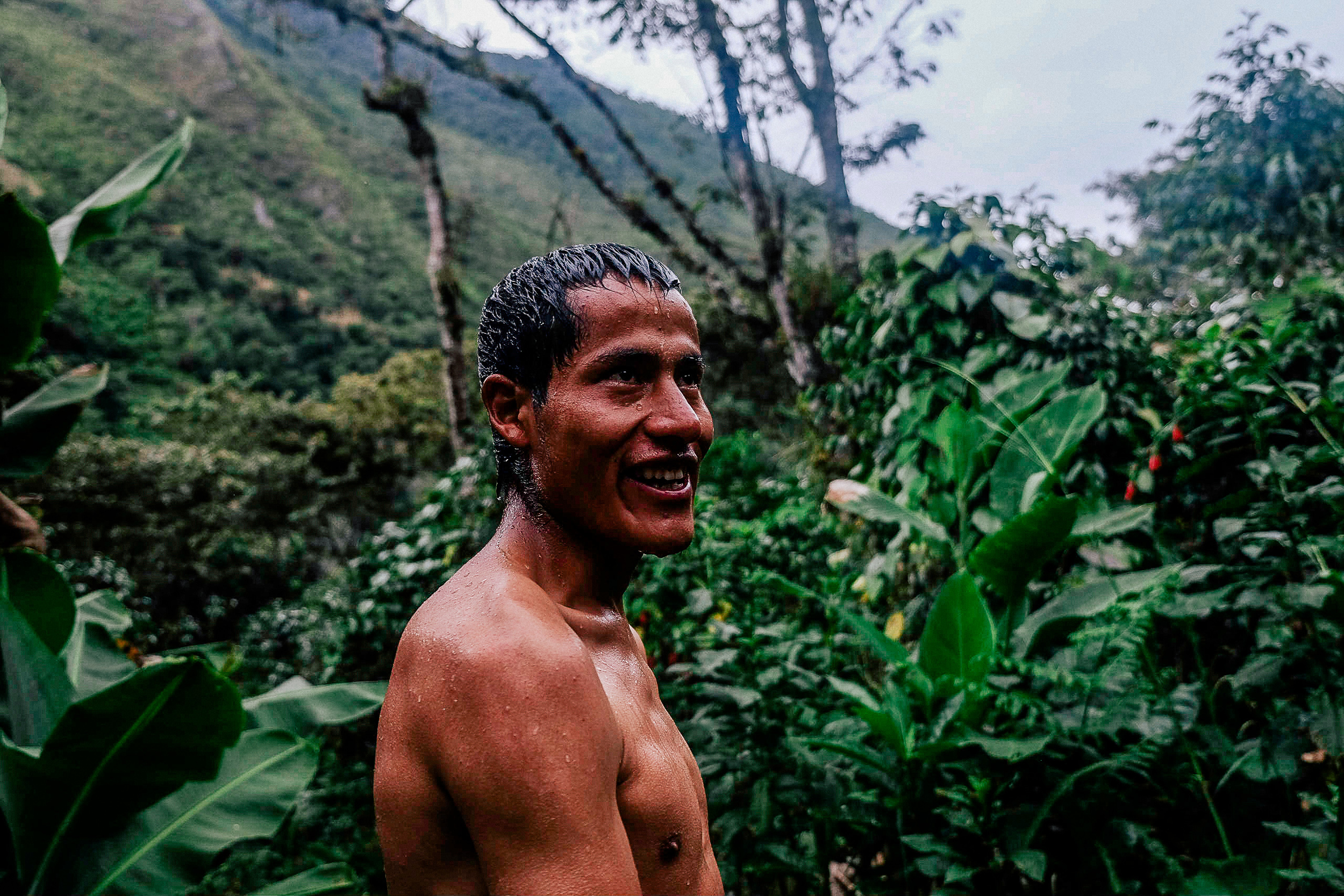 Ruben is one of the guides in training bringing us on this epic journey. On our third night after setting up camp he took us on a mini trek to a nearby stream for a much needed rest.