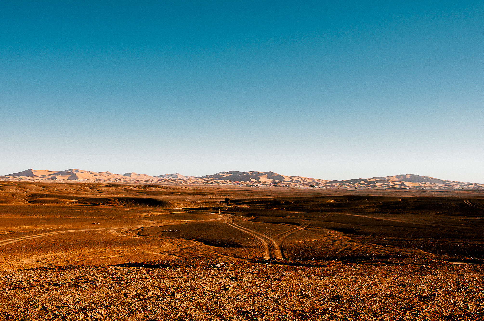 Approaching the Sahara desert.