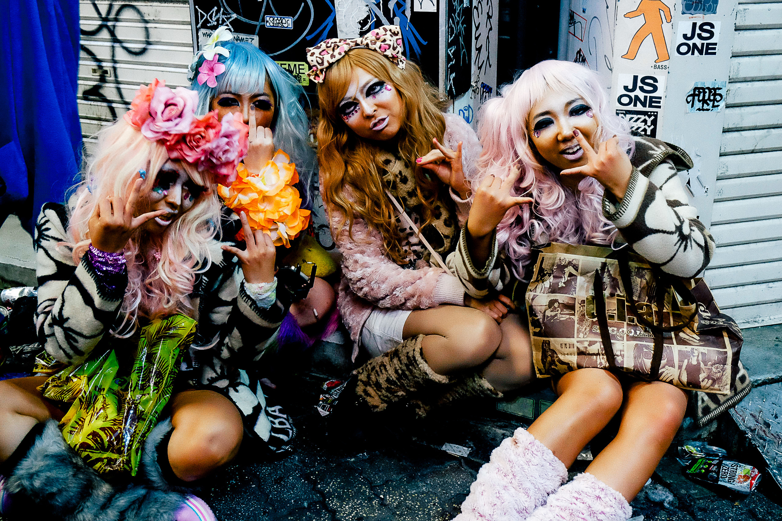 Girls dressed as anime characters.