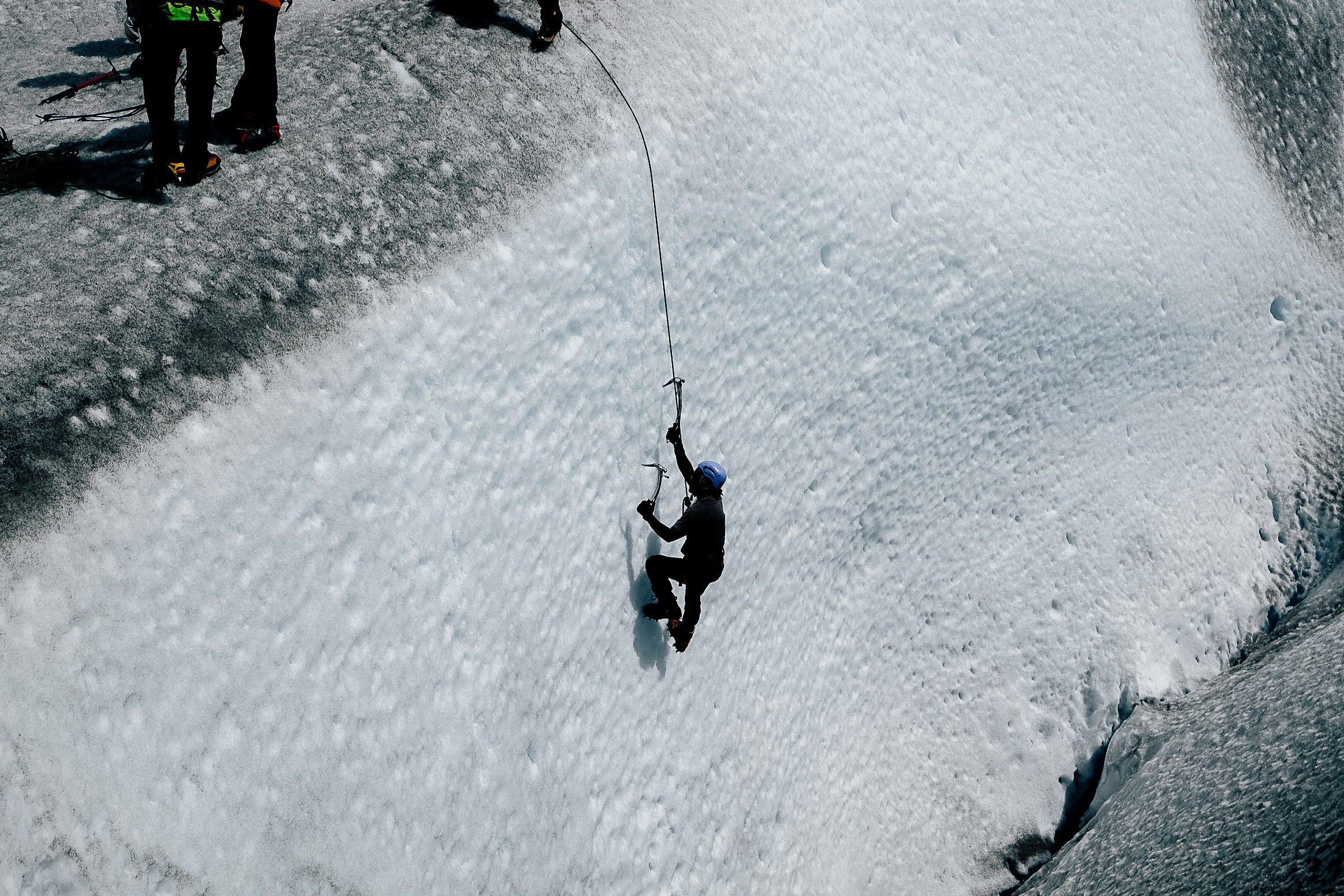 My first time climbing a glacier.