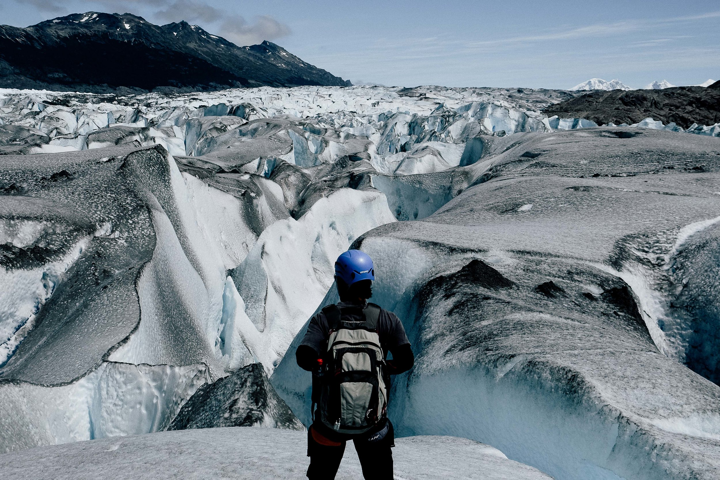 Surreal view of the glacier fields.