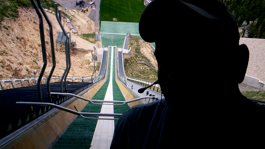 i would advise NOT trying a ski jump the first time (c) mark somple 2014