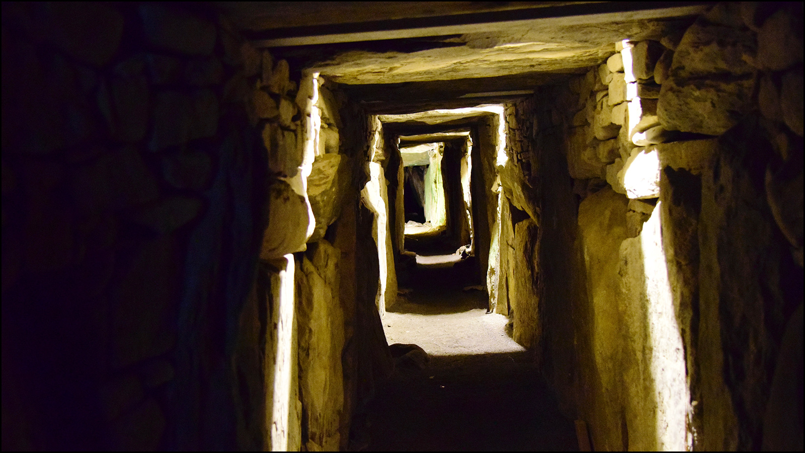 5000 year old passageway solstice chamber with Knowth (newgrange ireleand) have we really changed? (c) mark somple 2019