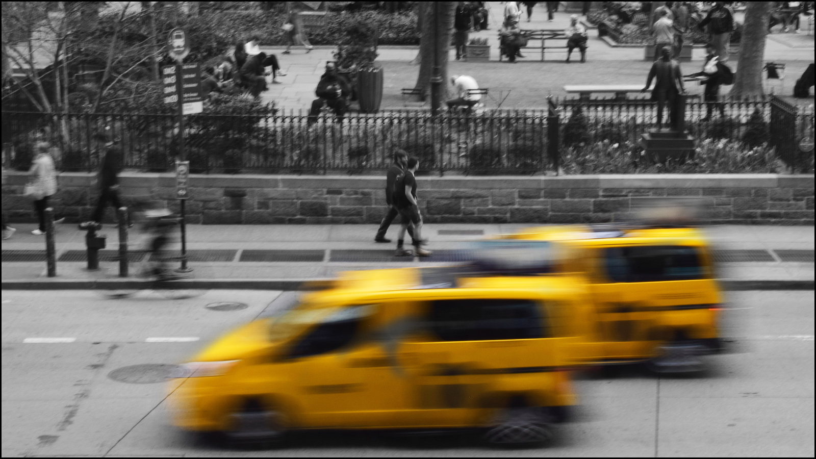 motion blur in nyc taxi cab yellow (c) mark somple 2019