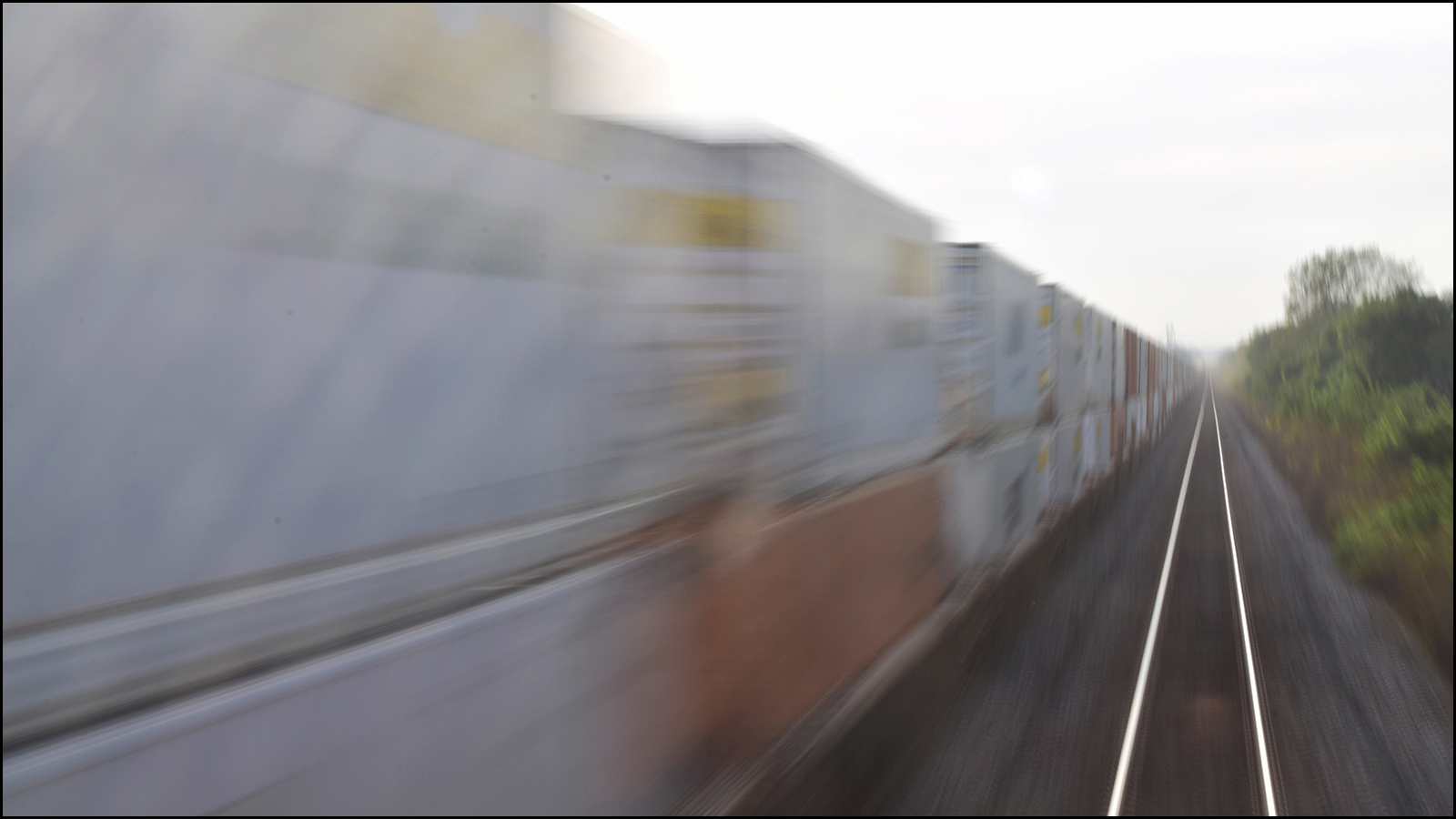 the blur of consumerism on its way to stores (c) mark somple 2019