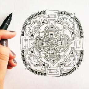 Becky Rui Mandala Drawing