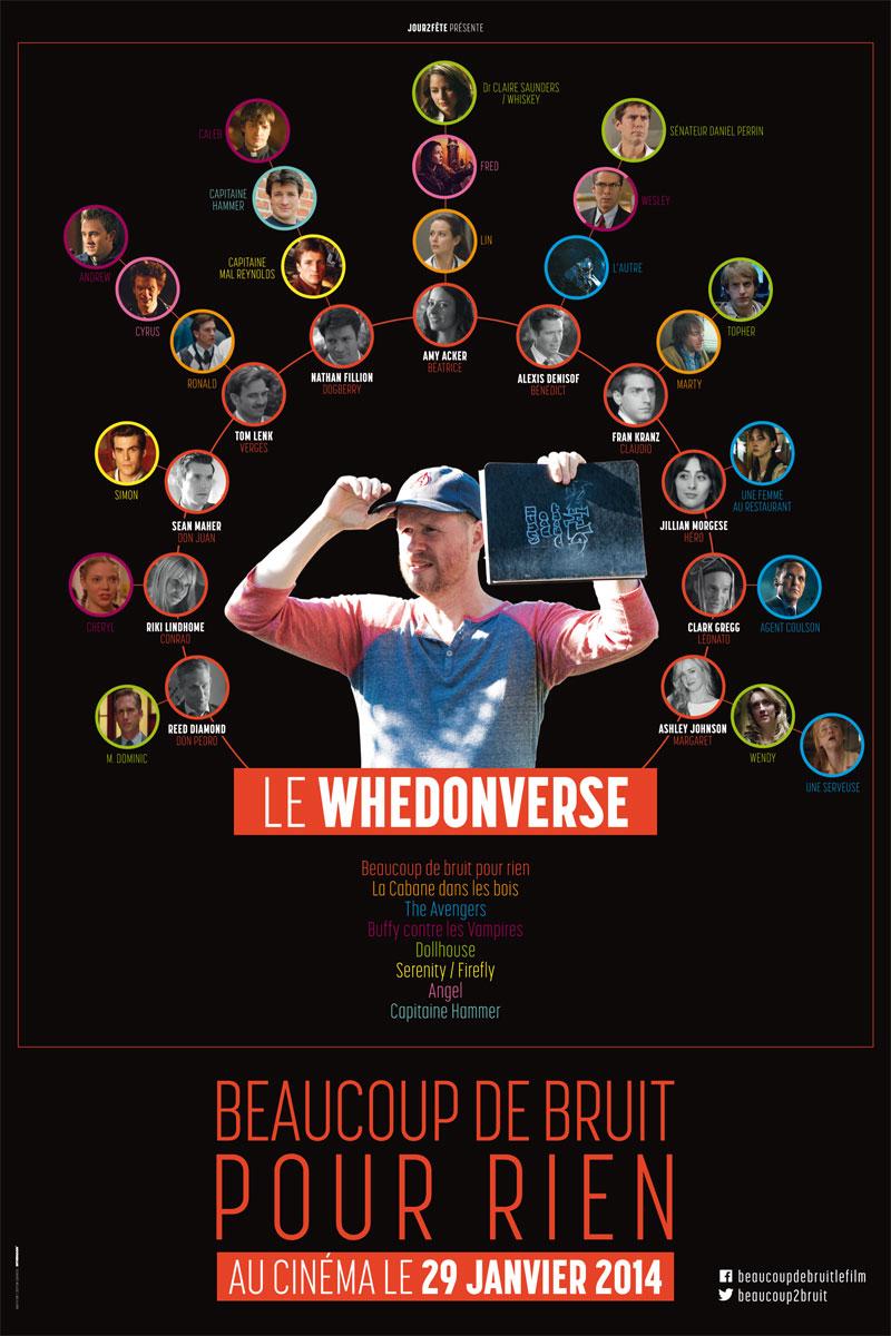 """Affiche Whedonverse - """"Beaucoup de bruit pour rien"""""""
