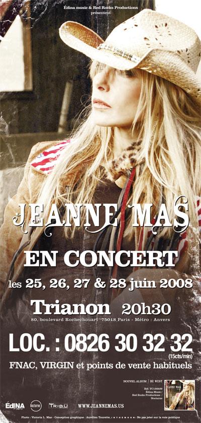 """Flyer Jeanne Mas - """"Be West"""""""