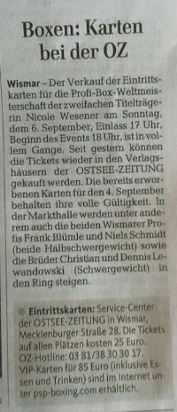Ostsee-Zeitung 13. August 2015