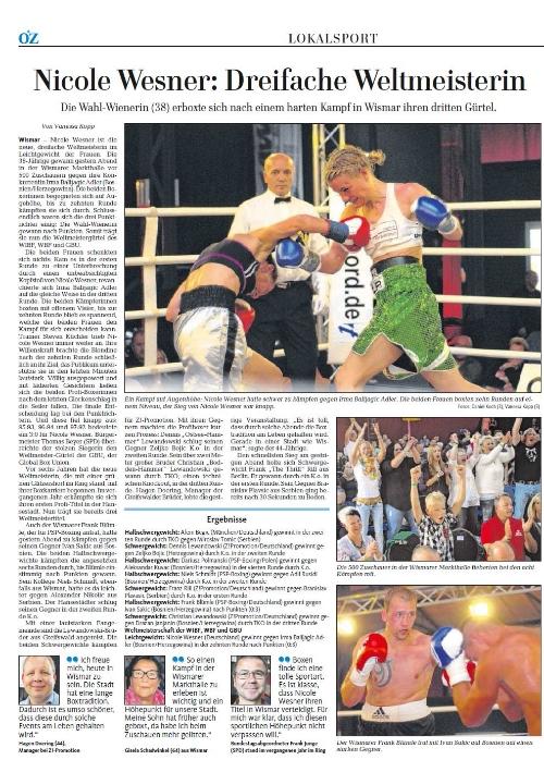 Ostseezeitung (Lokalteil) 7.9.2015