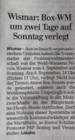 Ostsee-Zeitung (Titelseite) 8.9.2015