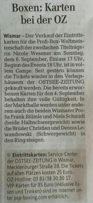 Ostsee-Zeitung 13.9.2015