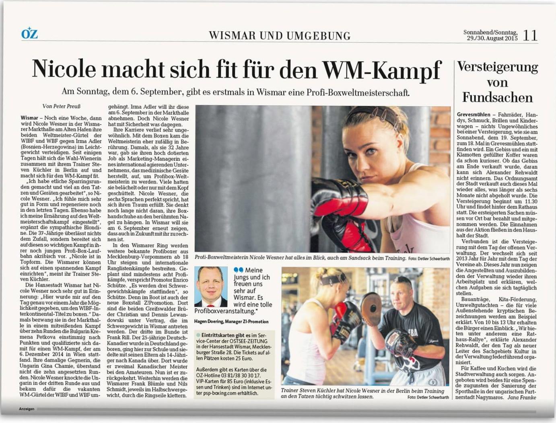 Ostsee-Zeitung 30.8.2015