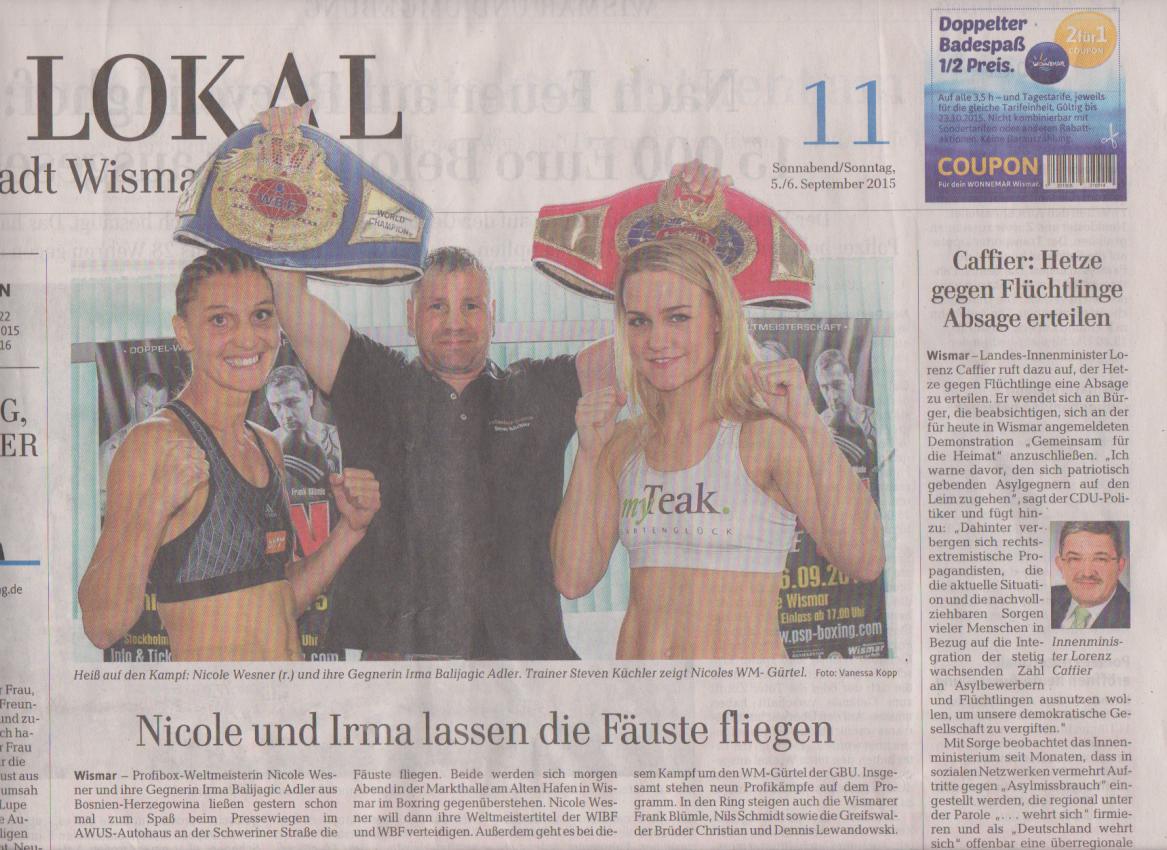 Ostsee-Zeitung 5. September 2015