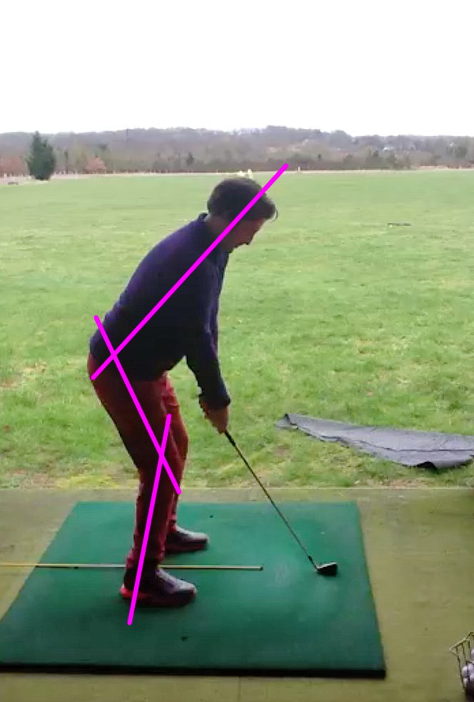 End of lesson no. 1    Improved posture, slight bending of the knee and sitting back into the stance creates a lot more room.