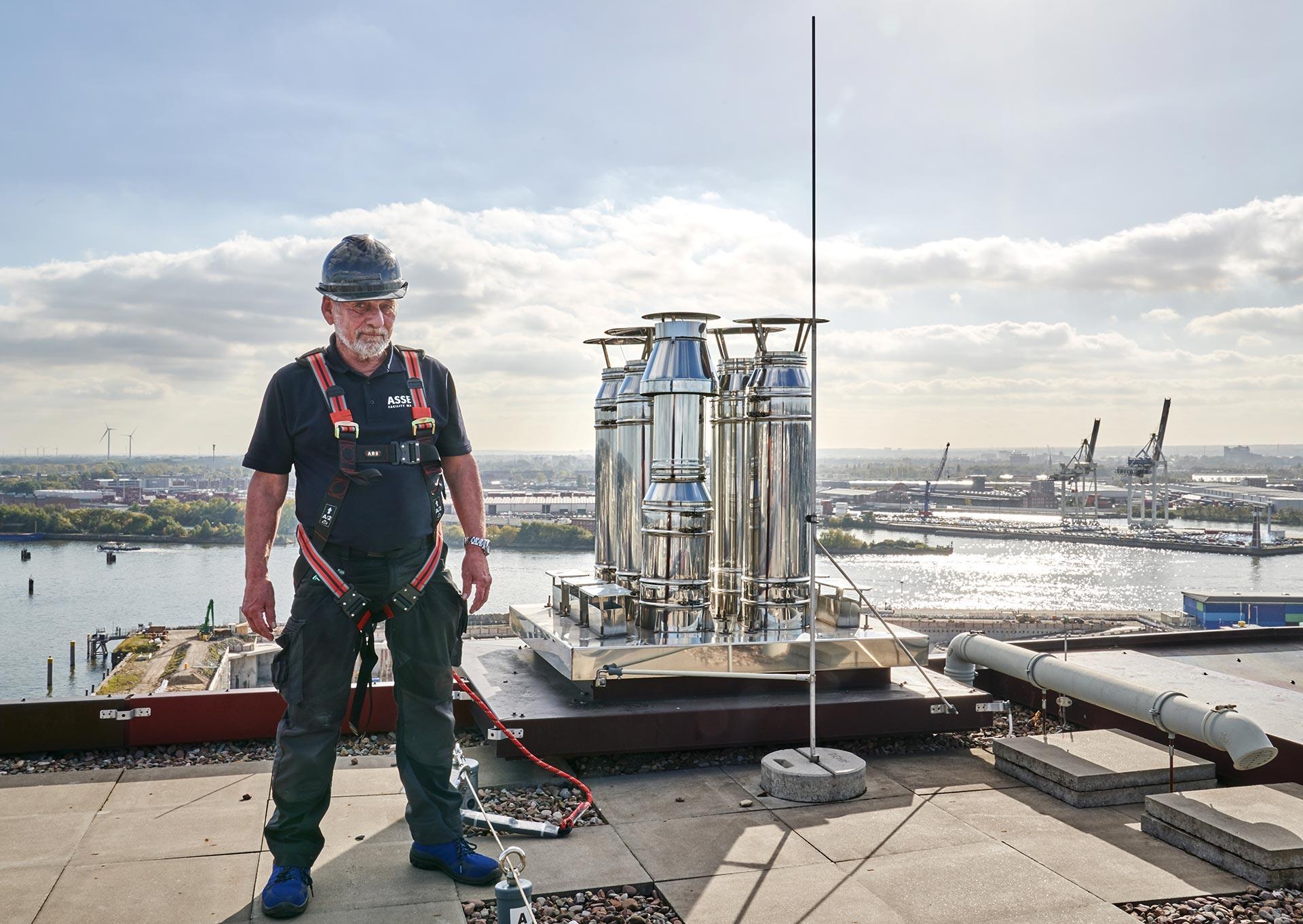 Corporatefotografie - auf Hamburgs Dächern