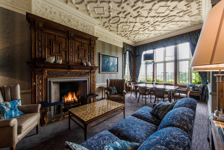interior photography -Wilton Carpets @Bovey CAstle, DEVon