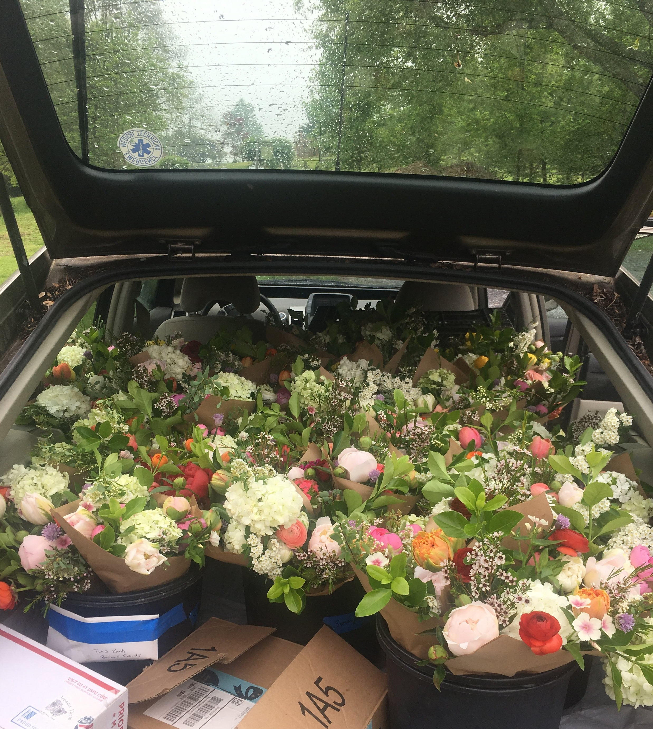 Mother's Day flowers headed out into the world!