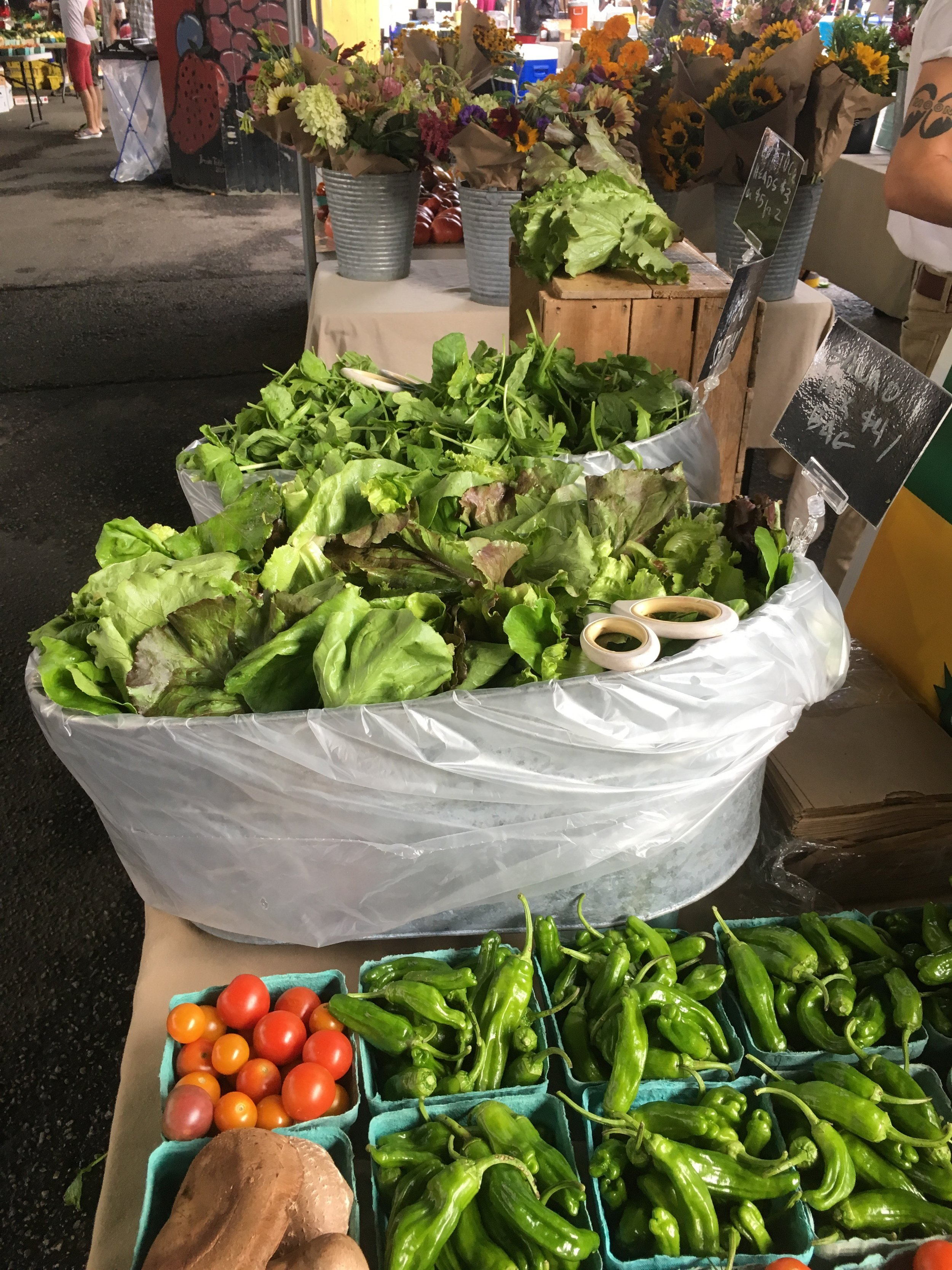 Our market stand is overflowing with abundance these days.