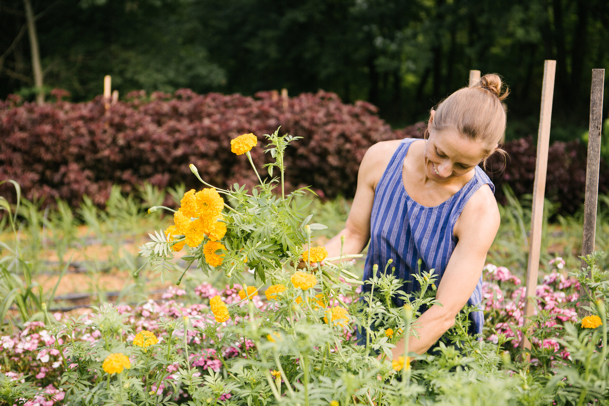 A photo from our July farm photoshoot by  Ann-Marie VanTassell . Elisa looks so happy here!